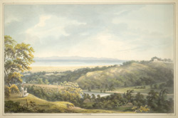 A view of Chittagong (Bengal) with river in distance.  March 1813